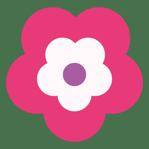Magenta flower icon Transparent PNG