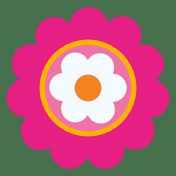 Magenta flower icon 3