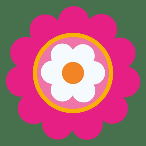 Magenta flower icon 3 Transparent PNG
