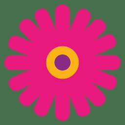 Icono de flor magenta 4