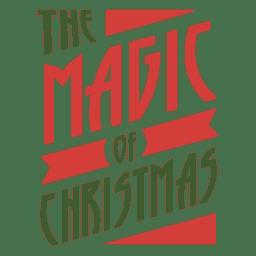 Magia de la insignia de navidad