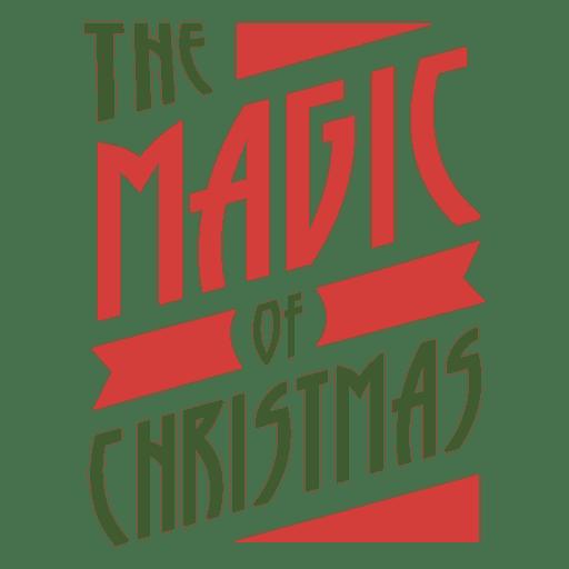 Magic of christmas badge Transparent PNG