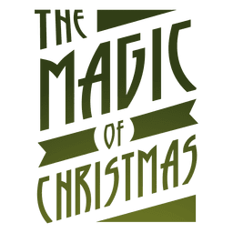 Magia de la etiqueta de la Navidad