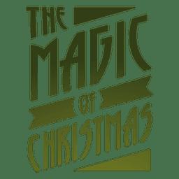 Magic of christmas label