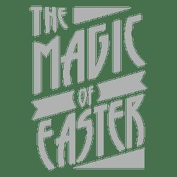Magia de las letras de Pascua