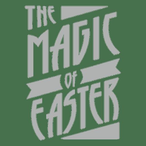 Magia de las letras de Pascua Transparent PNG