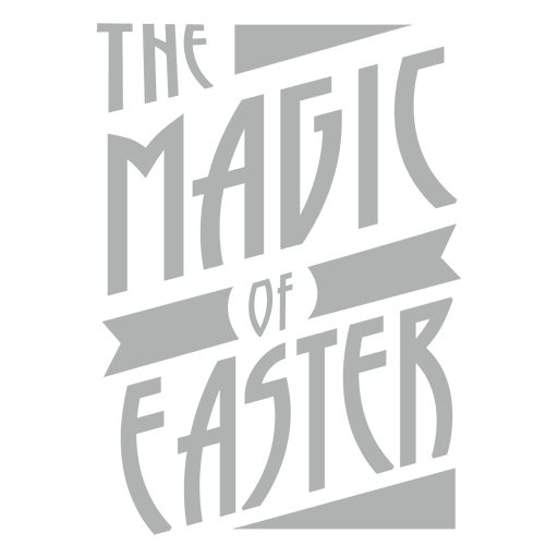 Magic of Easter Lettering Transparent PNG