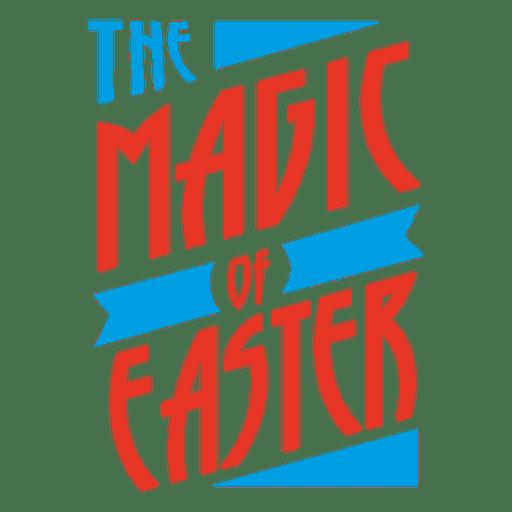 Magic of Easter Badge Transparent PNG