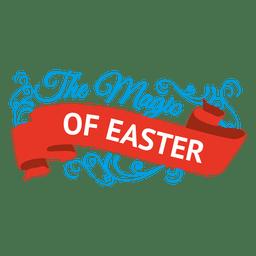 Magia do rótulo de Páscoa e fita
