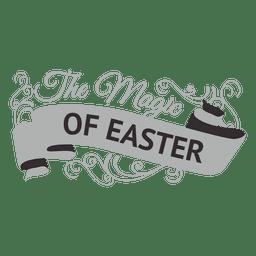 Magia do rótulo de Páscoa
