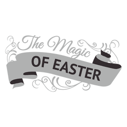 Magic of easter label