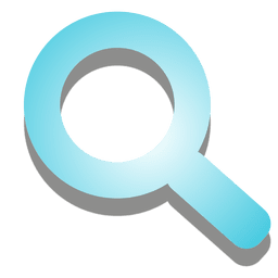 Magnifier icon with shadows