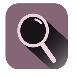 Magnifier square icon