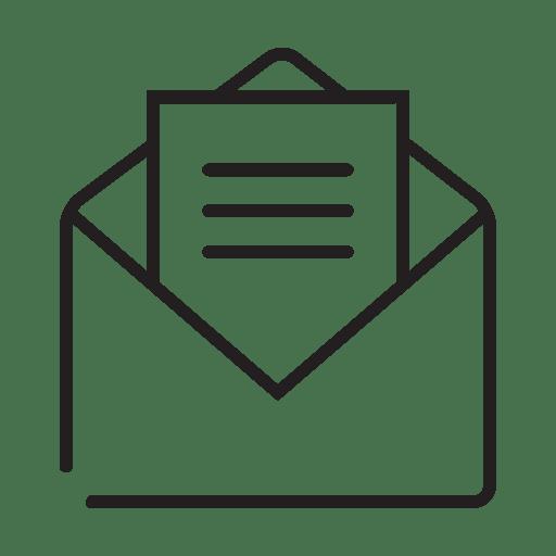 Icono de mensaje abierto de correo