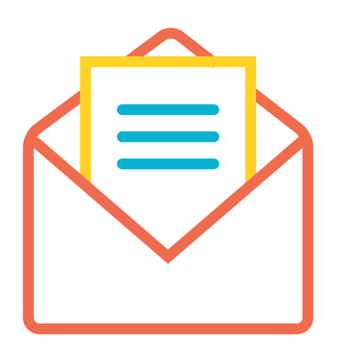 Colorful mail open message icon