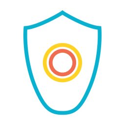 Malware shield virus protector icon