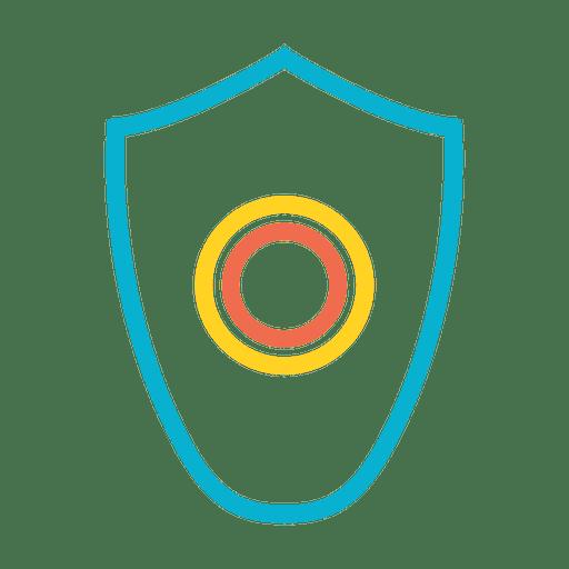 Malware shield virus protector icon