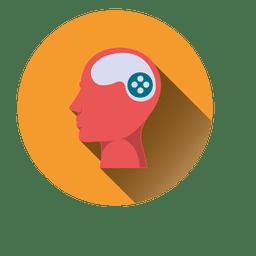 Homem, cabeça cérebro, ícone
