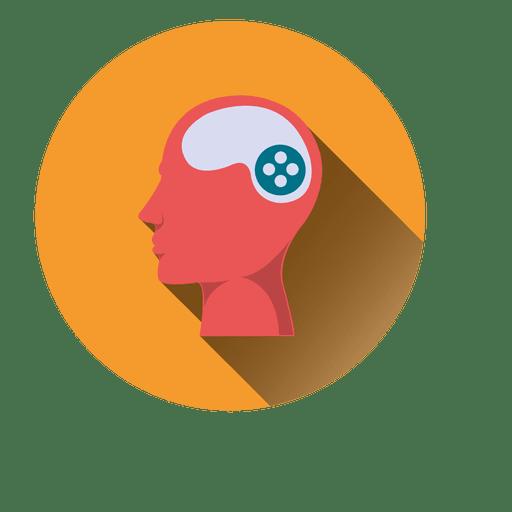 Man brain head icon