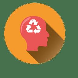 Homem, recicle, idéia, ícone