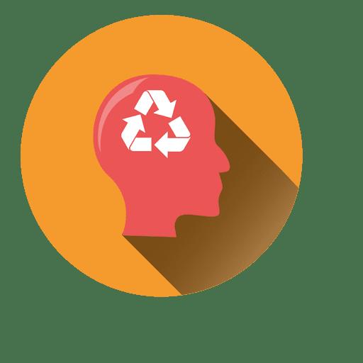 Man recycle idea icon