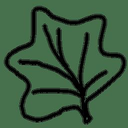 Maple outline leaf