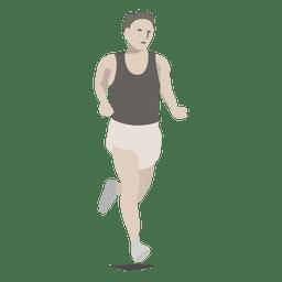 Marathon sport cartoon