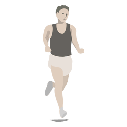 Maratón deporte de dibujos animados