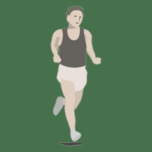 Dibujos animados de deporte de marat?n