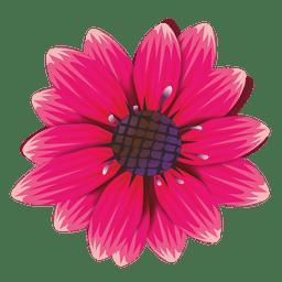 Dibujos animados de flor granate