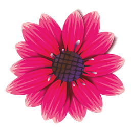 Maroon flower cartoon