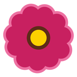 Ícone de flor marrom