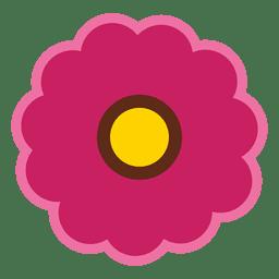 Icono de flor marrón