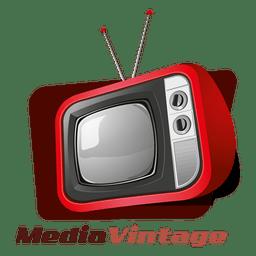 Logotipo vintage de mídia