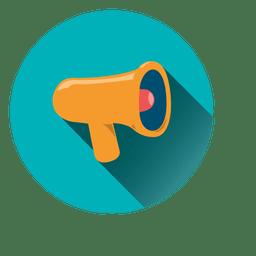 Icono de círculo de megáfono