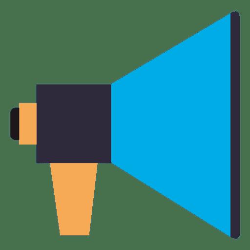Flat megaphone flat icon