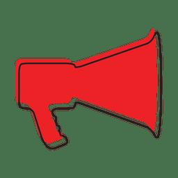 Icono de música de sonido de megáfono