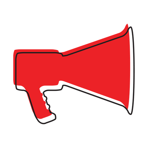 Megaphone sound music icon Transparent PNG
