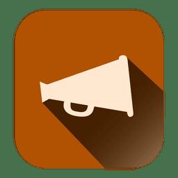 Icono de megáfono cuadrado
