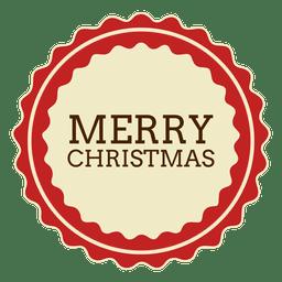 Merryy christmas round label