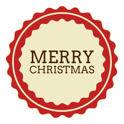 Merryy navidad etiqueta redonda
