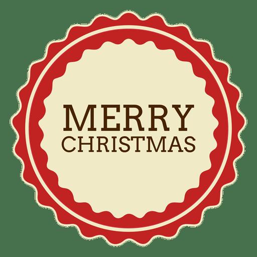 Frohe Weihnachten runder Aufkleber Transparent PNG