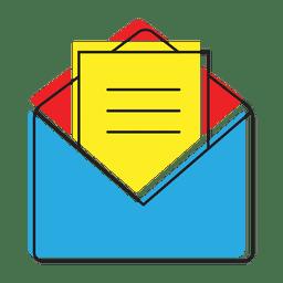 Ícone de mensagem de bate-papo aberto
