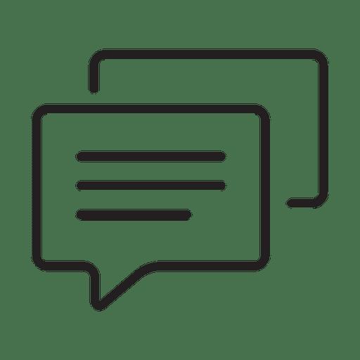 Ícone de mensagem básica Transparent PNG
