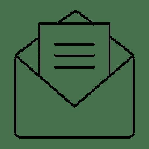 Envelope com ícone de correio Transparent PNG