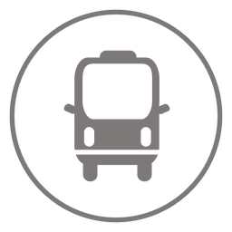 Ícone de círculo de microônibus