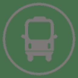 Minibus circle icon