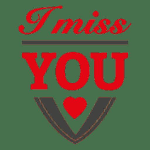 Miss You Valentine Label Transparent Png Svg Vector