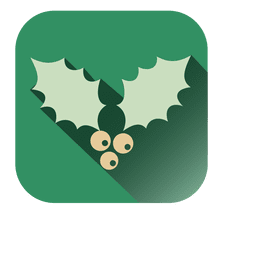 Muérdago Verde Símbolo Cuadrado