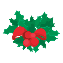 Mistletoe ribbon bow